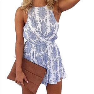 Sexy Strap backless Summer beach romper